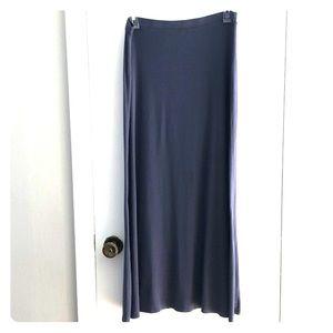 Slate blue maxi skirt SZ M w/ slight A-line.  #A21